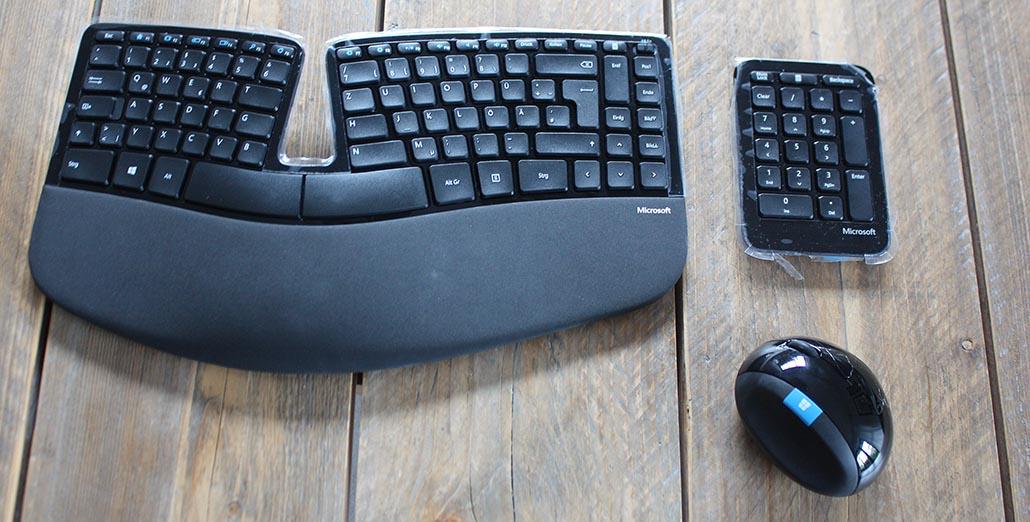 microsoft sculpt ergonomic tastatur maus
