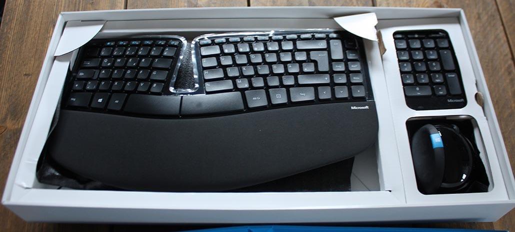 microsoft sculpt tastatur auspacken